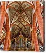 St Wendel Basilica Organ Acrylic Print