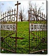 St. Xaviers Cemetery Acrylic Print