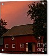 Stable Barn Acrylic Print