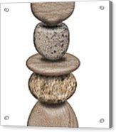 Stack Of Balanced Rocks With Heart Acrylic Print