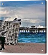 Stacked Beach Chairs Acrylic Print