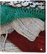 Stacked Nets And Ropes Acrylic Print