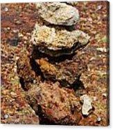 Stacked Rocks In Aruba Acrylic Print