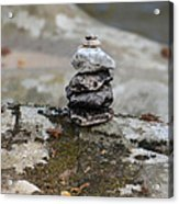 Stacked Stones Acrylic Print