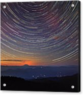 Stacking The Stars At Larch Mountain Acrylic Print