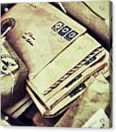 Stacks Of Old Mail Acrylic Print