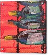 Stacks Of Red Acrylic Print by Steve Jorde