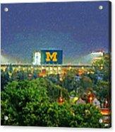 Stadium At Night Acrylic Print