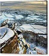 Staffordshire Winter Moorland Acrylic Print