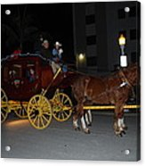 Stagecoach And Horses Acrylic Print