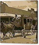 Stagecoach In Old West Arizona Acrylic Print