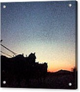 Stagecoach Riding Off Into The Sunset Acrylic Print