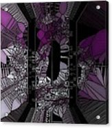 Stain Glass Acrylic Print by HollyWood Creation By linda zanini
