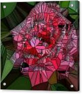 Stain Glass Rose Acrylic Print