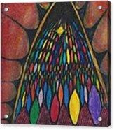 Stain Glass Window Drawing Acrylic Print by Cim Paddock