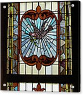 Stained Glass 3 Panel Vertical Composite 03 Acrylic Print