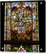 Stained Glass 3 Panel Vertical Composite 06 Acrylic Print