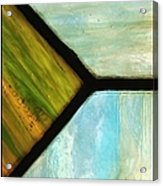 Stained Glass 6 Acrylic Print by Tom Druin