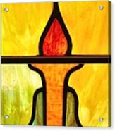 Stained Glass 8 Acrylic Print by Tom Druin