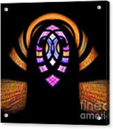 Stained Glass Abstract Acrylic Print