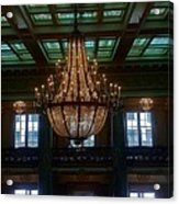 Stained Glass And Chandelier  Acrylic Print