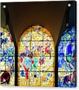 Stained Glass Chagall Windows Acrylic Print