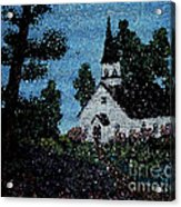 Stained Glass Church Scene Acrylic Print
