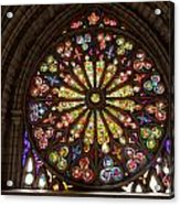 Stained Glass Details Acrylic Print