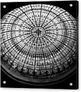 Stained Glass Dome - Bw Acrylic Print