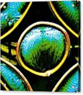 Stained Glass Eye Acrylic Print by Rebecca Flaig