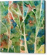 Stained Glass Forest In Spring Acrylic Print
