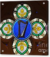Stained Glass Harp Acrylic Print
