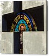 Stained Glass In A Tomb Acrylic Print