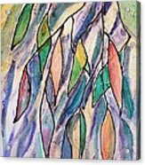 Stained Glass Leaves #2 Acrylic Print