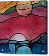 Stained Glass Moonrise Acrylic Print