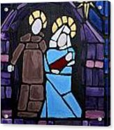 Stained Glass Nativity Acrylic Print