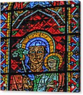 Stained Glass Of Chartres Acrylic Print