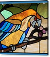 Stained Glass Parrot Window Acrylic Print