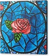 Stained Glass Roses Acrylic Print