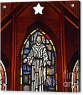 Stained Glass Saviour Acrylic Print