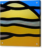 Stained Glass Scenery 3 Acrylic Print