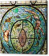 Stained Glass Skylight In Fordyce Bathhouse Acrylic Print