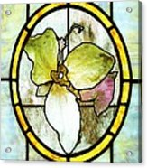 Stained Glass Template Woodlands Flora Acrylic Print