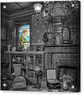 Stained Glass - The Maiden In The Sun Acrylic Print by Lee Dos Santos