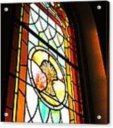 Stained Glass Wheat Acrylic Print by Stephanie Grooms