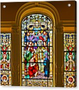 Stained Glass Window Cathedral St Augustine Acrylic Print by Christine Till