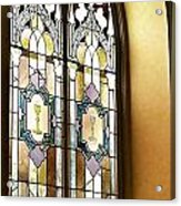Stained Glass Window In Arch Acrylic Print