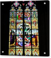 Stained Glass Window In Cologne Acrylic Print