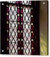 Stained Glass Window In Saint Paul's Episcopal Church-1882 In Tombstone-az Acrylic Print