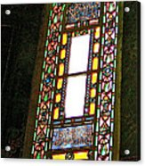 Stained Glass Window In Saint Sophia's In Istanbul-turkey  Acrylic Print